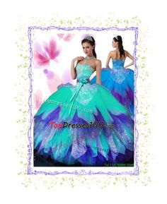 """""""Rainbow Big Puffy Quinceanera Dress"""" by topdresses100-2015 ❤ liked on Polyvore featuring beauty"""
