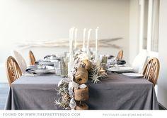 Summer Beach Christmas Table Setting ~ Photographer: Christine Meintjes