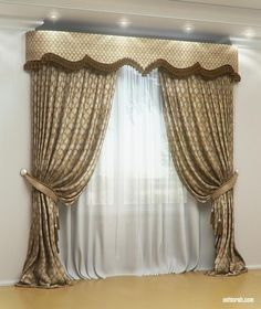 Ideas For Bedroom Window Valance Patterns Doll House Curtains, Bedroom Drapes, Curtains And Draperies, Luxury Curtains, Home Curtains, Window Curtains, Valances, Drapery Styles, Curtain Styles