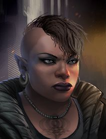 Female Dwarf Shadowrunner Portraits from Shadowrun Returns and Shadowrun…