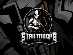 Star Troopers - Logo Design (FOR SALE) designed by Roshan Pietersz. Connect with them on Dribbble; the global community for designers and creative professionals. Star Wars Prints, Star Wars Art, Star Troopers, Game Logo Design, Esports Logo, Business Logo Design, Logo Sticker, Cool Logo, Logo Design Inspiration