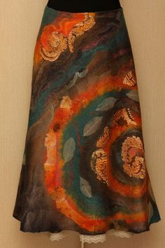 The new spiral / Felted Clothing / Skirt by LybaV on Etsy, $350.00