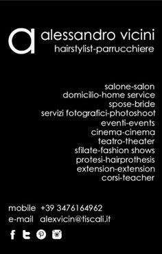 Info Alessandro Vicini #Hairstylist