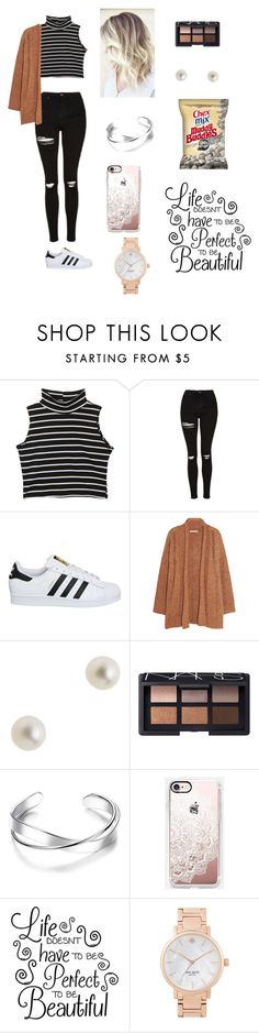 """""""isabelle"""" by sarahbarah2 ❤ liked on Polyvore featuring Topshop, adidas, Rebecca Minkoff, J.Crew, NARS Cosmetics, Casetify and Kate Spade"""
