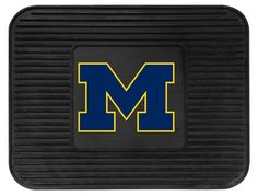 Michigan Wolverines Heavy Duty Vinyl Rear Seat Car Utility Mat