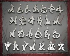 Large Stainless Graffiti letters by TagUrslf on Etsy. $25.00 USD, via Etsy.