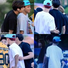 Seoulsistersopi: clingy jikook. OMG their beautiful natural skin color too!