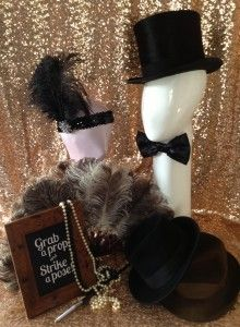 Great Gatsby inspired photo booth props!