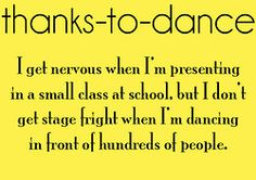 lol this is soooooo true. I never get nervous on stage but in front of the class is the worst