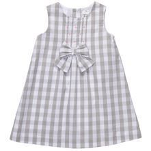 Grey gingham dress with matching bow and diaper cover. Carters Baby Clothes, Carters Baby Girl, Baby Girl Romper, Little Girl Dresses, Girls Dresses, Carters Clothing, Young Fashion, Kids Fashion, Baby Dress Tutorials