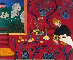 """Henri Matisse, """"Red Room (Harmony in Red)"""", 1908 (San Pietroburgo, Museo dell'Ermitage)."""