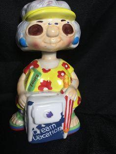 Other Collectible Still & Piggy Banks Bobble Head, Old Women, Dream Vacations, Piggy Bank, Banks, Lady, Money Box, Money Bank, Savings Jar