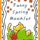Spring Funny Mini-Booklet for Pre-Kinders and Kinders - Ma