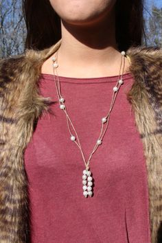 beautiful lariat pearl necklace