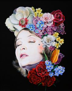 Aspects of Love  by Melissa Hartley #flowers #art #painting