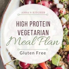 A super healthy, high-protein, gluten-free vegetarian meal plan. This meal plan is full of delicious, easy recipes, that are health supportive and free from animal protein. Cabbage Vegetable, Vegetable Quinoa, High Protein Vegetarian Recipes, Vegetarian Meal, Shawarma Spices, Enchiladas Healthy, Lemon Pasta, Different Vegetables, Mediterranean Diet Recipes