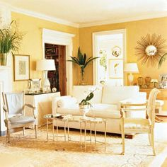 Primose Yellow 2 Family Rooms Walls Living Room Paint Colors For