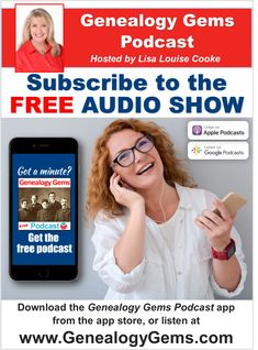 Get the Genealogy Gems Podcast App App Store, Family History, Genealogy, Gems, Notes, Free, Report Cards, Rhinestones, Jewels