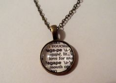 Bronze Agape Dictionary word pendant necklace by EverArizona, $20.00