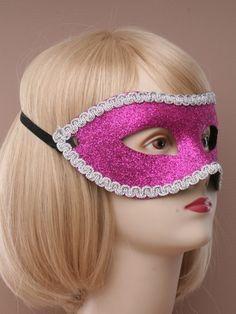 Masquerade Ball Chrome Mask holographic Glitter Silver Grey Frozen Snow Queen