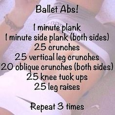 ab workout, not just for ballet dancers though, for ALL dancers, i say! ab workout, not just for ballet dancers Fitness Workouts, Killer Ab Workouts, Best Ab Workout, At Home Workouts, Fitness Motivation, Weight Workouts, Fitness Abs, Workout Exercises, Fat Workout