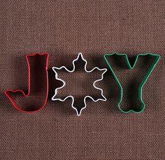 Christmas Joy Cookie Cutters