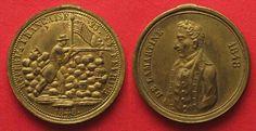 1848 Frankreich - Medaillen DE LAMARTINE 23.- 24. FEVRIER 1848 medaille laiton 31mm qFDC!!! # 82450 UNC