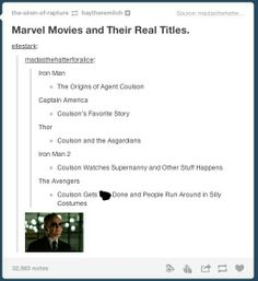 The real titles for Marvel Phase 1