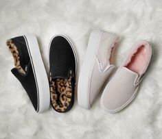 Vans Provides Authentic Platform And Slip-On A Fuzzy Leopard Make Over Dream Shoes, Crazy Shoes, New Shoes, Vans Shoes, Slip On Shoes, Shoes Sneakers, Girls Sneakers, Cute Vans, Cute Shoes