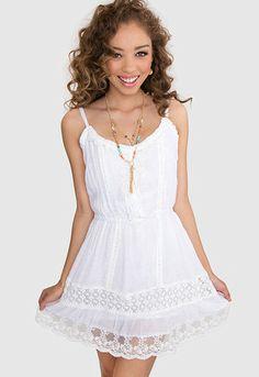 #ShopPricelessSummer : Avery Lace Dress - White