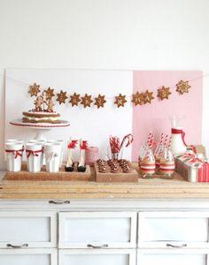 DE LUNARES Y NARANJAS: Mesa de dulces navideña