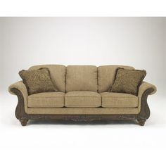 Ashley Cambridge Fabric Sofa in Amber  sc 1 st  Pinterest : russ sofa bed with chaise - Sectionals, Sofas & Couches