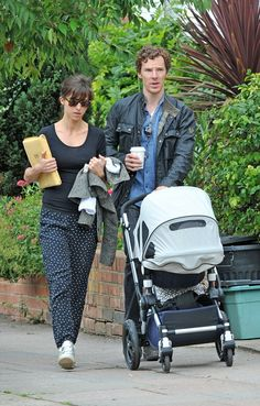 The three of us: Actor Benedict Cumberbatch, 39, and his wife Sophie Hunter, 37, welcomed their first son in June