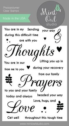 Thoughts and Prayers – Mint Owl Studio