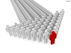 Slim is referred to as a leader.Everybody always refers to slim whenever they need a decision.  In this picture it show a single person leading a bunch of people.  He is the  one that is different, but in a  good way.