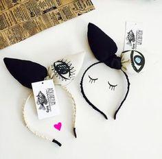 """Curious Ears"" headband in Eye print  Diadema"