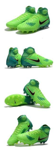Nike Magista Obra 2 FG Firm Ground Football Cleats Green Black