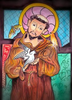 st francis of assisi | St. Francis Of Assisi Painting - St. Francis Of Assisi Fine Art Print