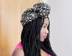 senegalese twists with turban