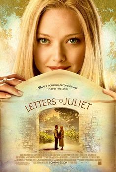 "Letters to Juliet. Amanda Seyfried. This movie was sooooo romantic and extremely cliche but hey it's a ""romcom""  all the same totally made me wanna leave my letter with Juliet"