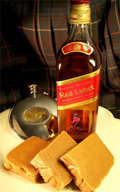 Scottish Whisky Fudge  Made with Johnnie Walker Red Label. $14.75/lb www.TheMillFudgeFactory.com