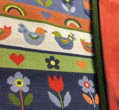 Ba-Ba-Birds tapestry by Jolly Red, to be made into a cushion.