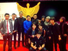 At Panasonic gobel awards With Team dahsyat...