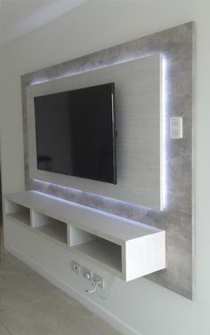 64 BEST TV WALL DESIGNS AND IDEAS - Page 46 of 64 The TV background wall mainly refers to the main wall in the living room and bedroom that reflects the decoration style. The position of the… Home Design, Wall Design, Design Ideas, Design Design, Bedroom Tv Unit Design, Design Case, Modern Design, Graphic Design, Tv Wand Design