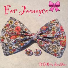 $9  Joeneyce's order is ready! Thanks so much for your purchase 3/4 inch earrings shown. http://buttonsbowsbeyond.bigcartel.com