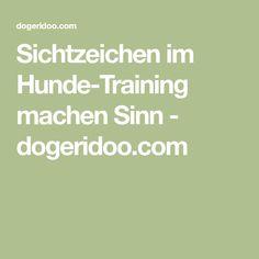 Sichtzeichen im Hunde-Training machen Sinn - dogeridoo.com