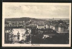 Alte Ansichtskarte: AK Neustrelitz, Wasserturm mit Blick über den Ort
