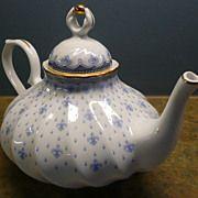 Quinta Nova Porcelain Blue and White Teapot Made In Portugal  Artgate Treasures on Ruby Lane