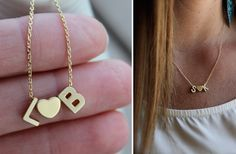 GroopDealz | Itty Bitty 14k Gold Sweethearts Necklace