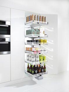 CONVOY Lavido - Pull-out section for larder units - Kesseböhmer Larder Unit, Kitchen Larder, Kitchen Dinning, Home Decor Kitchen, Kitchen Storage, Home Kitchens, Locker Storage, Interior Design Website, Interior Design Kitchen